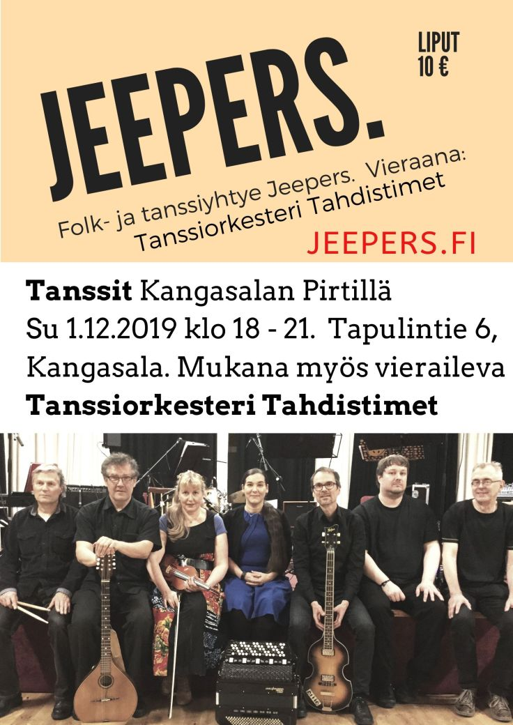 Jeepers-tanssit 2019